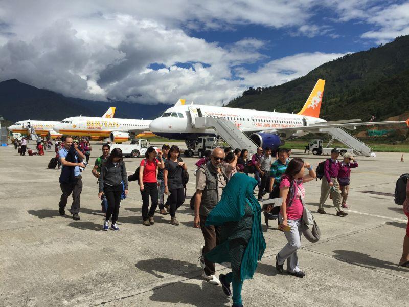 guest arrival in Paro Bhutan