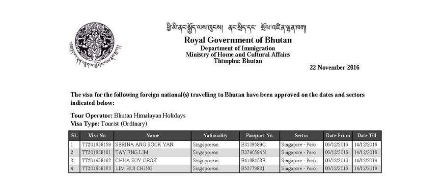 Bhutan Visa-Entry Permit to Bhutan